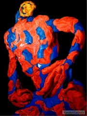 REYNIER Eric - Red and blue dancer