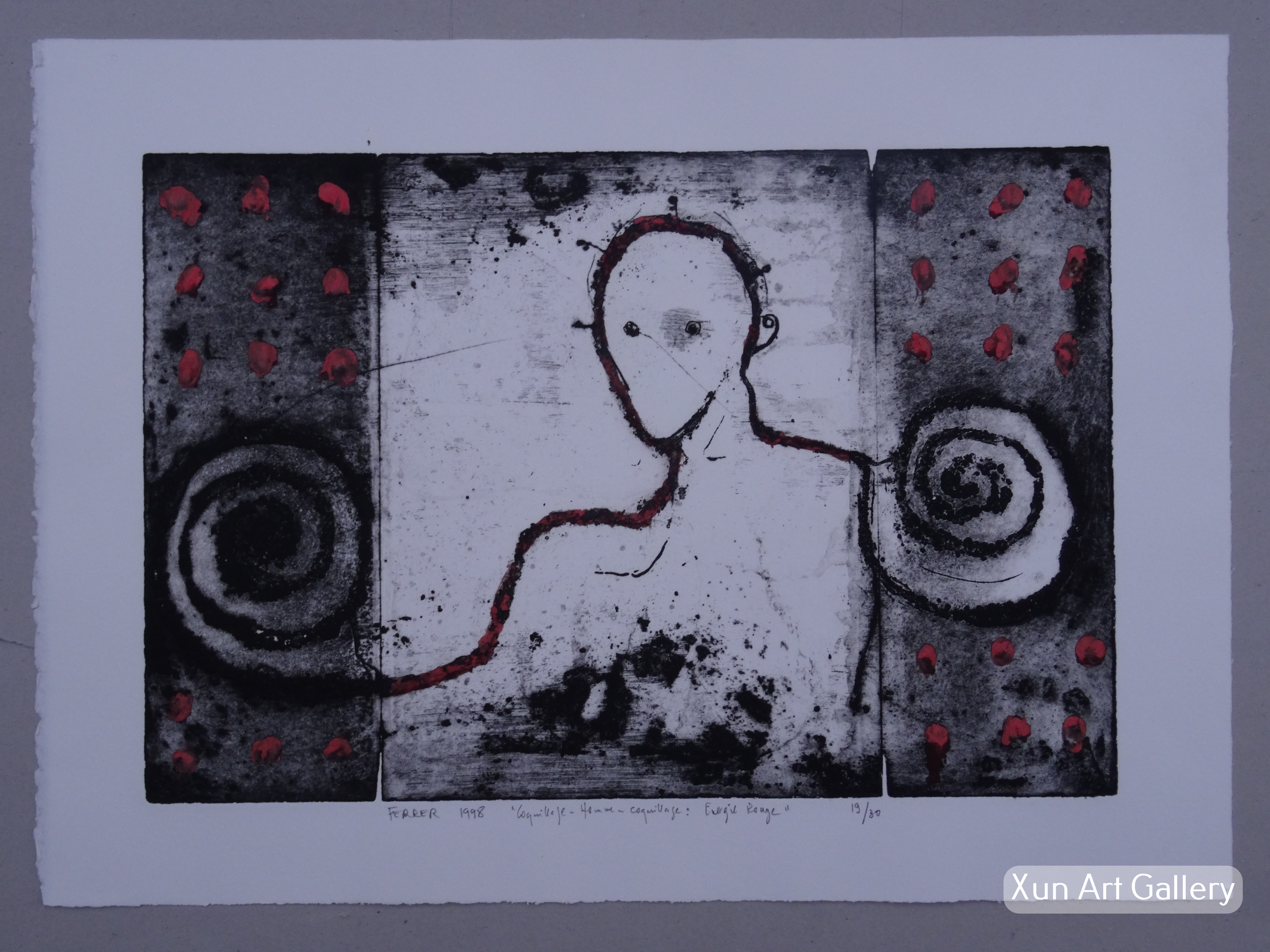 Guy FERRER - COQUILLAGE-HOMME-COQUILLAGE ENERGIE ROUGE