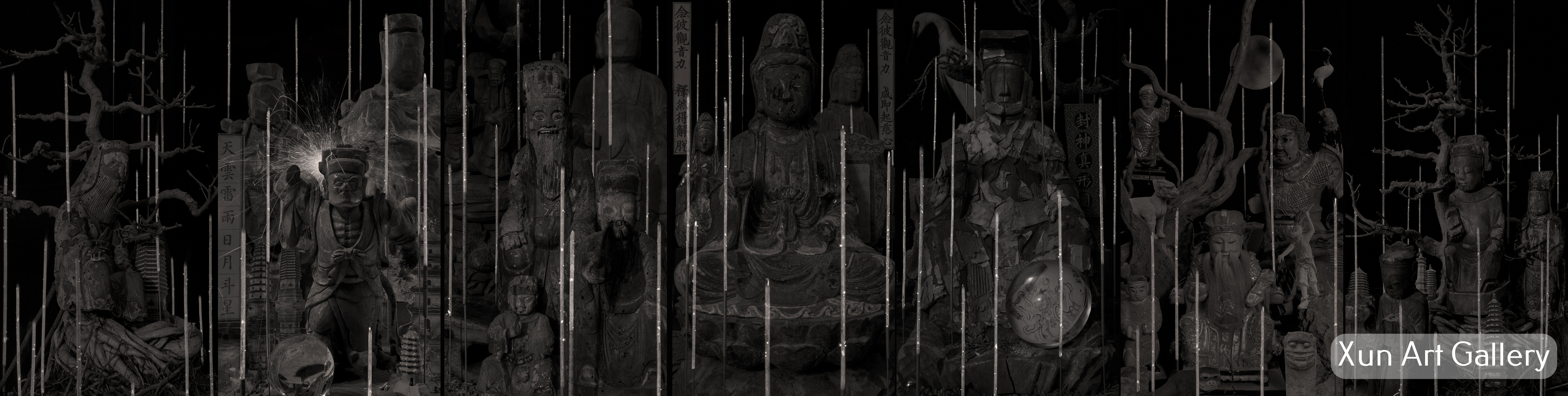 Maleonn - Part one - Statues of various gods and Buddhas - 2019